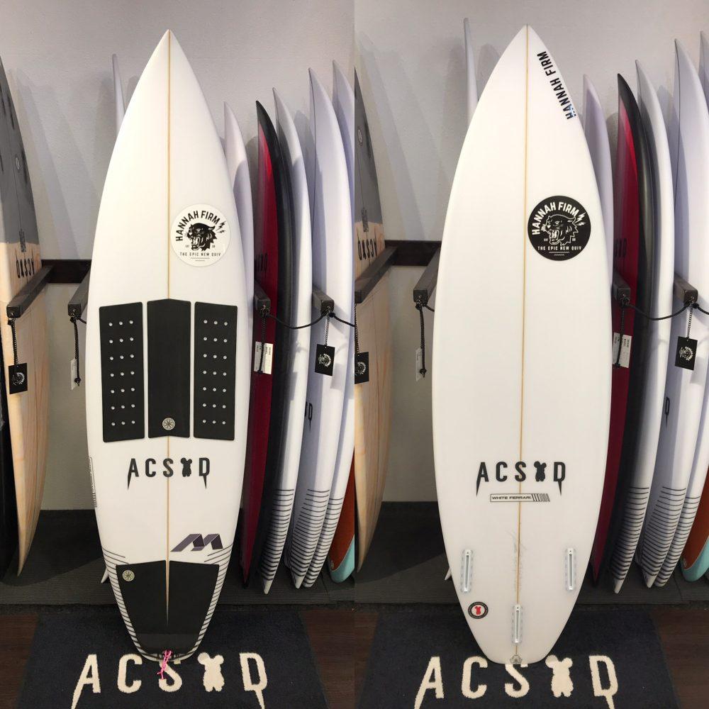 "WHITE FERRARI 5'11"" ACSOD"