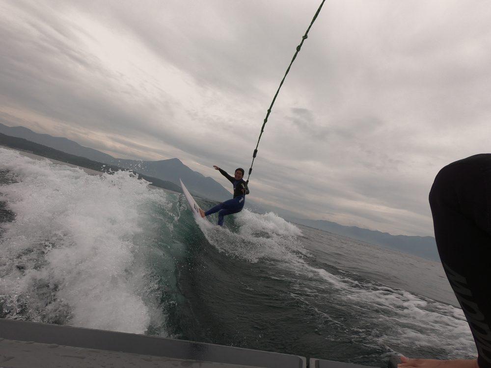 ウェイクサーフィン 猪苗代湖